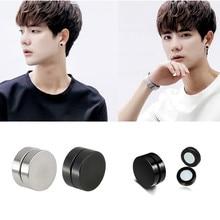 Fake Earrings Magnet Ear-Clip Double-Sided Stainless-Steel Korean-Version Titanium Women