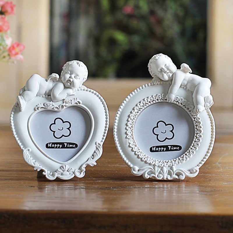 White Mini Picture Frame for Lovely Baby,Heart Shaped Photo Frames Home Decor,Porta Retrato Moldura Creative Wedding Photo Frame
