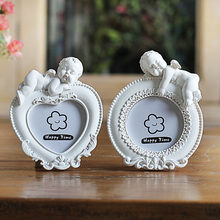 White Mini Picture Frame for Lovely Baby,Heart Shaped Photo Frames Home Decor,Porta Retrato Moldura Creative Wedding Photo Frame(China)