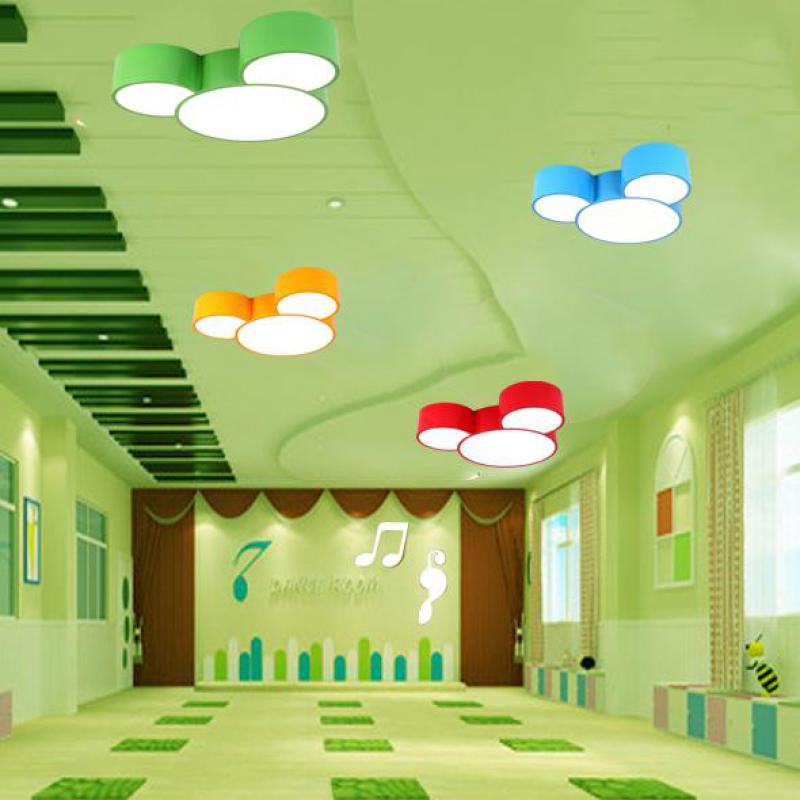 Kindergarten muliti-Color Led Ceiling Lamp fixtures Personality Children Boys And Girls Room surface Lamp led work reading light creative stepless dimming led color cartoon dolphin crystal ceiling lamp children boys and girls study dining room light fixture