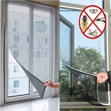 Insect Fly Bug Mosquito Door Screen Curtain Protector Window Net With Tape