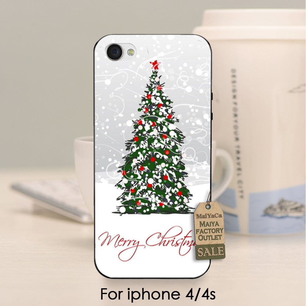 soft black tpu silicone Merry Christmas tree deco best gift On Sale ...