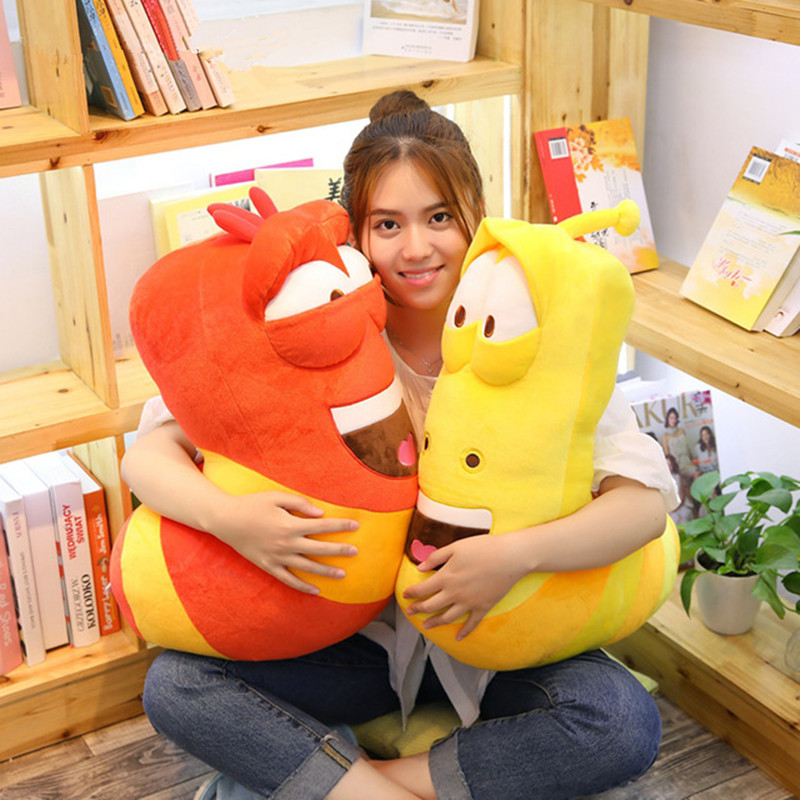35/65CM Anime Movie Giant Size Insect Slug Creative Larva Plush Toy Stuffed Soft Cartoon Pillow Children Kids Christmas Present