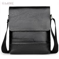 Crossbody     Bags   For Man Pu Leather Shoulder   Bag   Messenger   Bags   Male Black Fashion Simple Casual Business High Quality Handbag