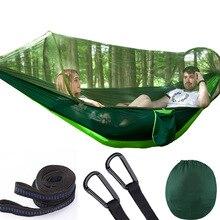 Grand extérieur 2 personnes Patio meubles Camping moustiquaire hamac tente Parachute léger Nylon suspendu balançoire lit hamacs