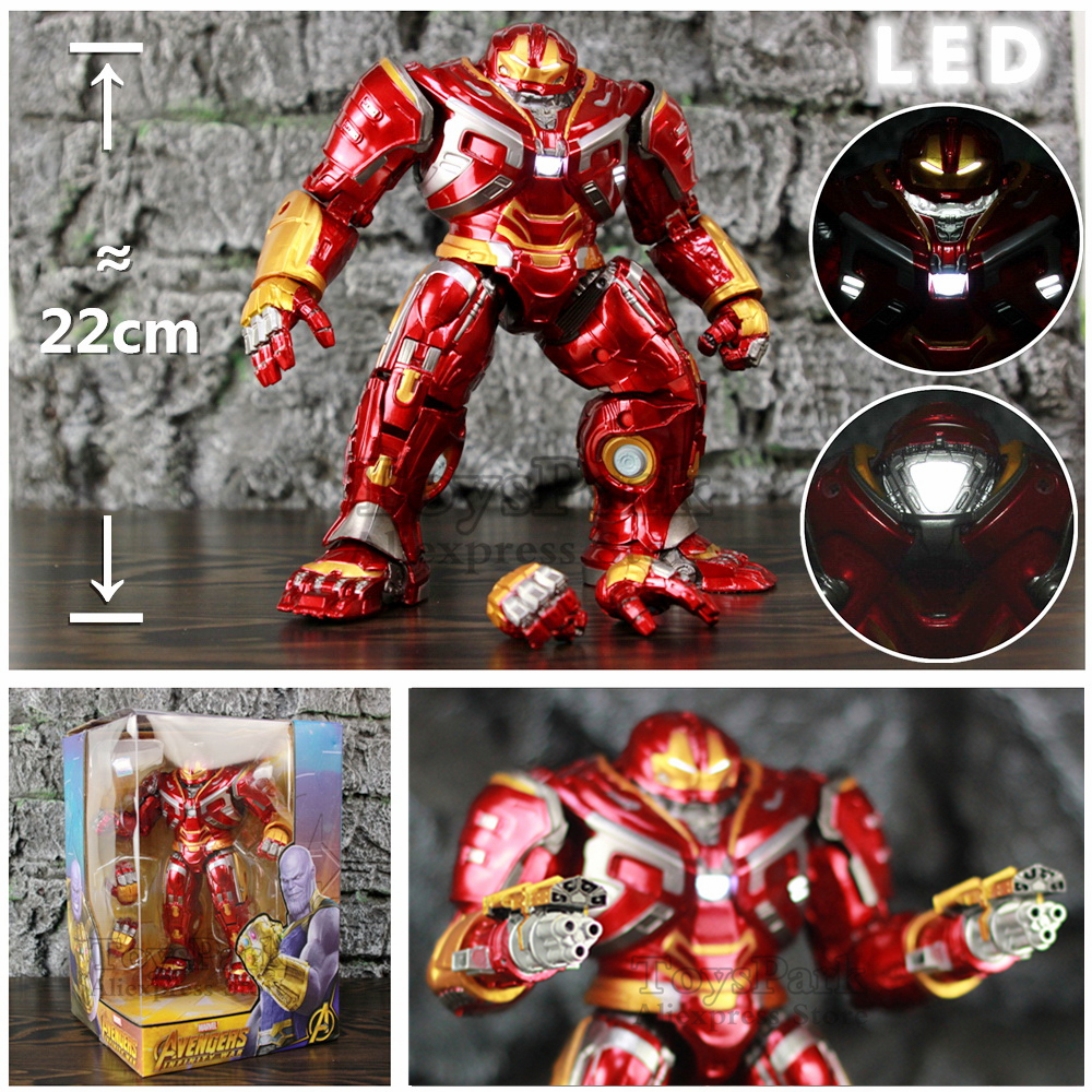 Marvel Avengers Hulkbuster Mark44 22cm Action Figure LED Light Hulk Buster Iron Man Tony Stark Legends