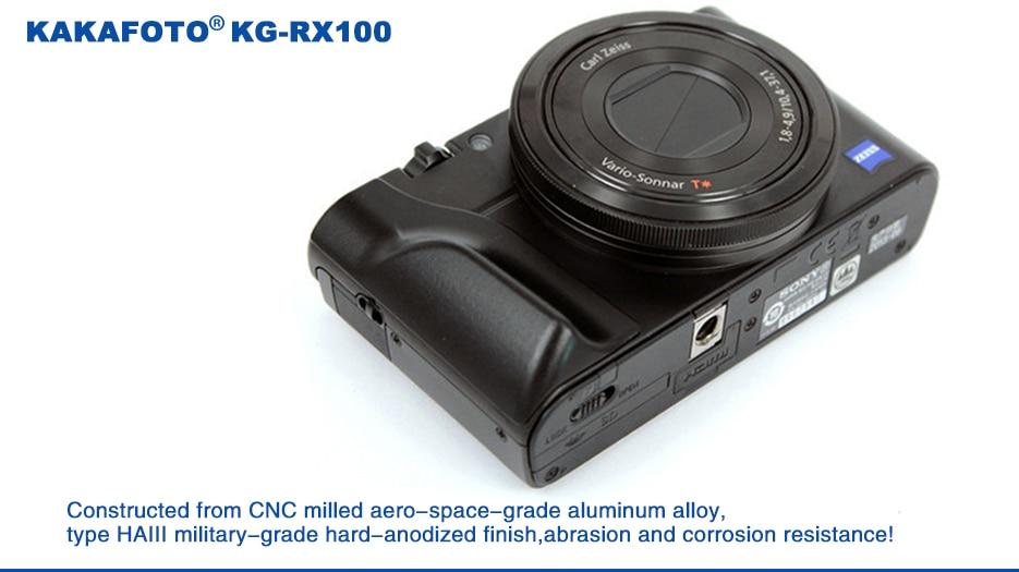 KAKAFOTO KG-RX100 Metal Custom Handgrip for Sony Cyber-shot RX100 III RX100IV RX100V Series Cameras фотоаппарат sony cyber shot dsc rx10m2