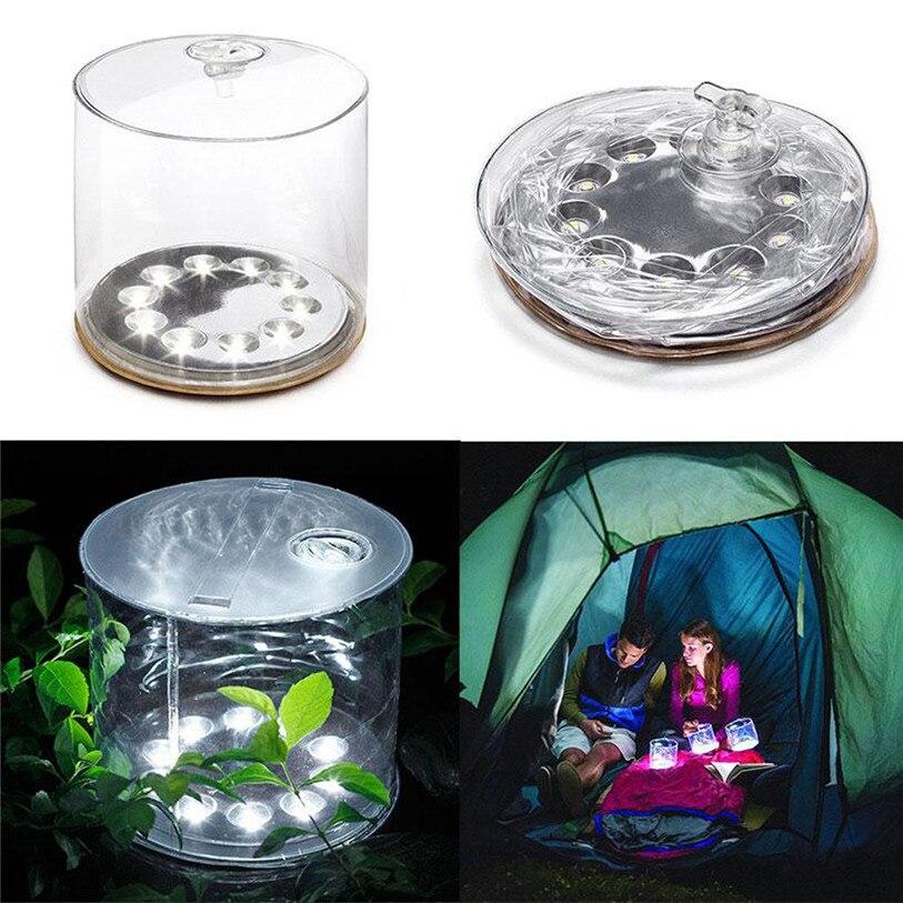 Neue LED Solar Powered Faltbare Aufblasbare Tragbare Licht-lampe Für Garten Ornamente Sport Fahrrad Licht Zubehör August 1