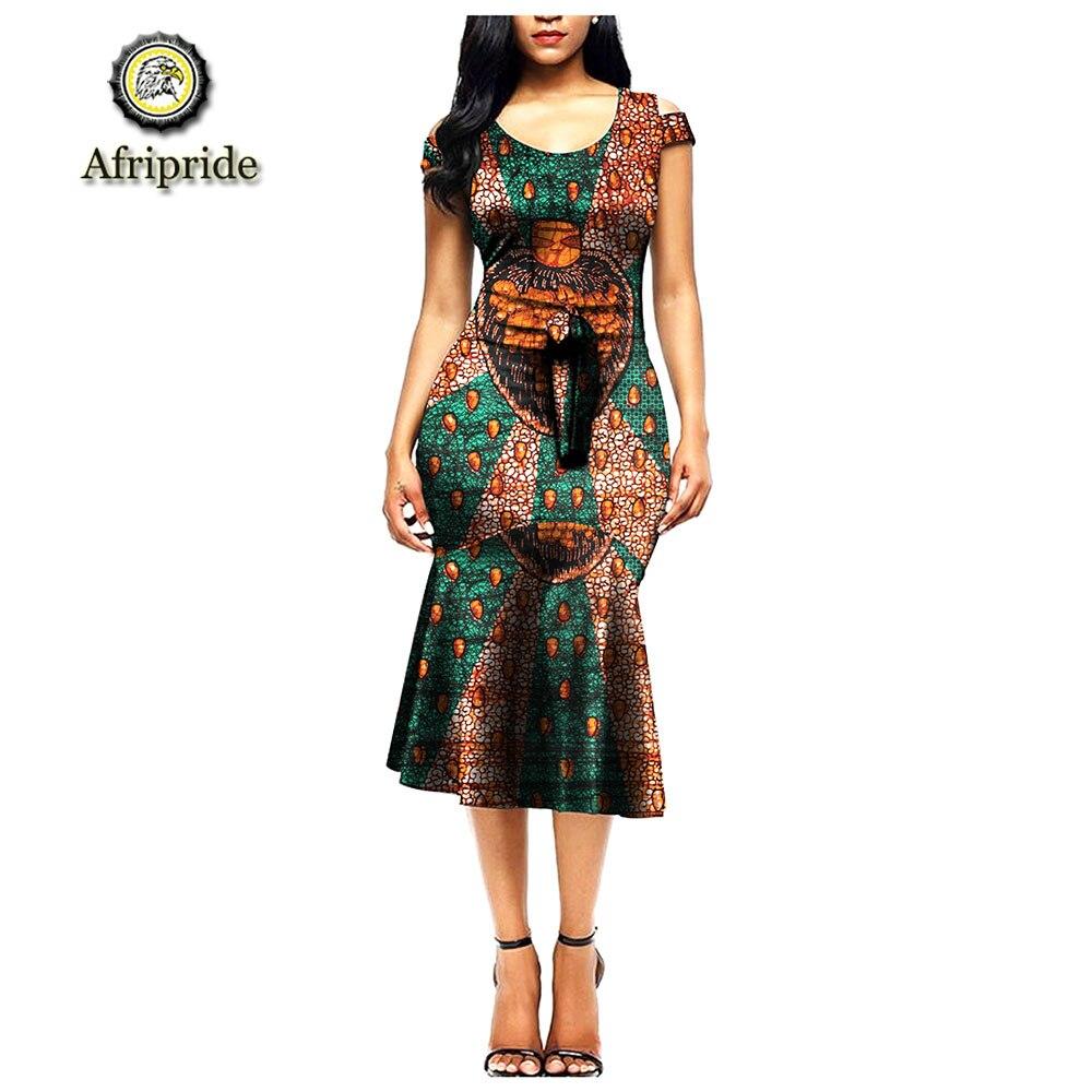2019 robes africaines pour femmes décontracté manches courtes grande taille Design Bazin imprimé fête boho robe femmes robe vestidos S1925005