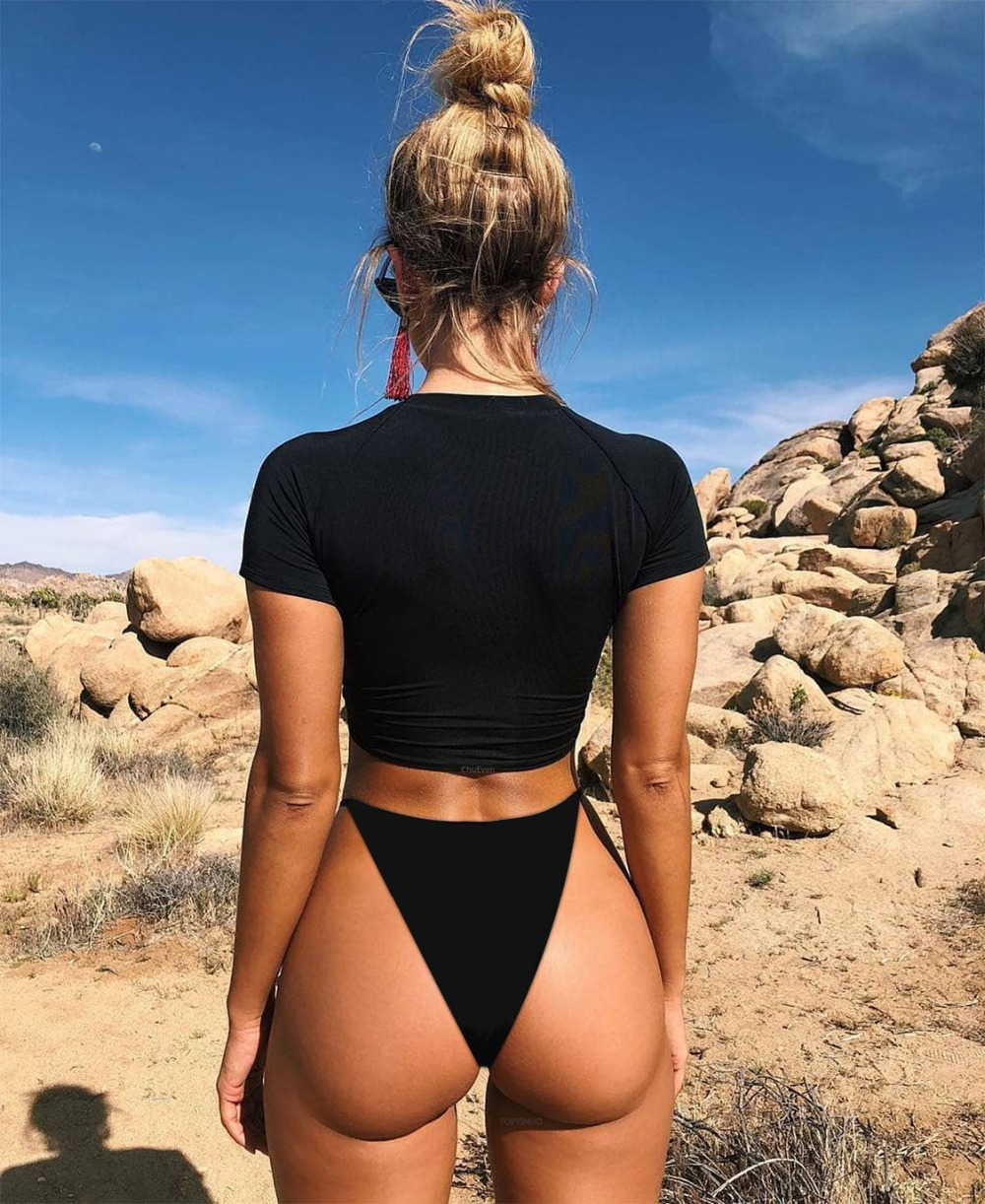 Leopard signature scrunch bikini bottom