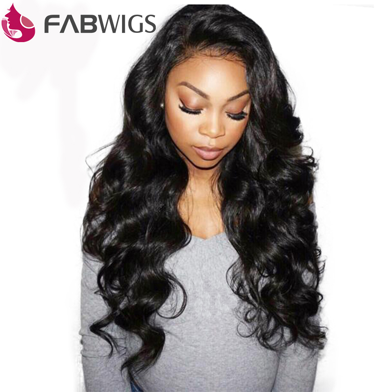 Human Hair Lace Wigs Motivated Fabwigs 360 Lace Frontal Wig Pre Plucked With Baby Hair Brazilian Straight Lace Front Human Hair Wigs For Black Women Remy Hair Lace Wigs