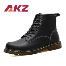 AKZ Mixed color Unisex Ankle Boots New Fashion Autumn Winter warm Men Martin Boots High Quality Split leather Male High Boots mycolen new 2018 high top martin boots luxury fashion fashion leather men boots ankle motorcycle boots for male men shoe