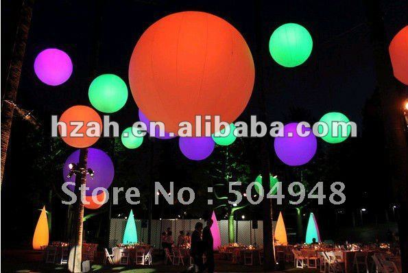Colorful LED Inflatable Balloon ao058m 2m hot selling inflatable advertising helium balloon ball pvc helium balioon inflatable sphere sky balloon for sale
