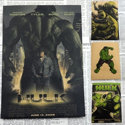 Marvel Comics Poster Avengers Movie Hulk Posters Waterproof Vintage Posters HD Print Picture Wall Sticker For Kids Room 30*21cm image