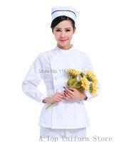 Autumn And Winter Classic Style Women S Long Sleeve Nurse Uniform Two Pieces Set Clothes White