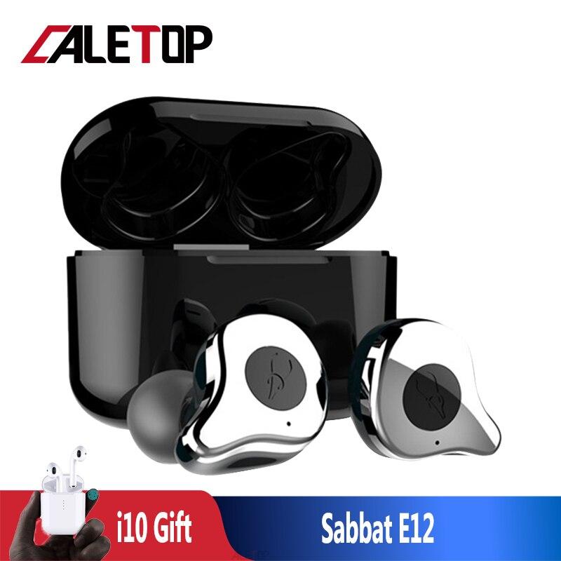 Sabbat E12 TWS Bluetooth 5.0 casque sans fil HiFi écouteurs avec Microphones IPX5 étanche écouteurs avec boîte de charge 2019