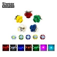 10* B8.4 Brand New T5 B8.4D 5050 1SMD Car LED Light Instrument Bulbs Gauge Dashboard Lamp Side Indicator Lights 12V 7 Colors