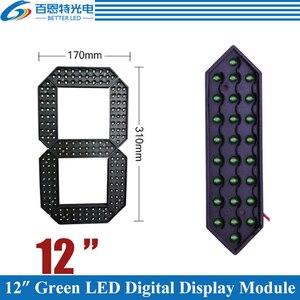 """Image 1 - 4 adet/grup 12 """"yeşil renk açık 7 yedi Segment LED dijital sayı modülü fiyat LED ekran modülü"""