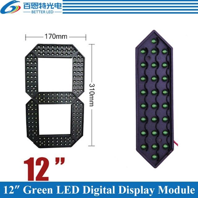"""4 adet/grup 12 """"yeşil renk açık 7 yedi Segment LED dijital sayı modülü fiyat LED ekran modülü"""