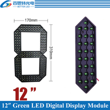 "4pcs/lot 12"" Green Color Outdoor 7 Seven Segment LED Digital Number Module for Gas Price LED Display module"