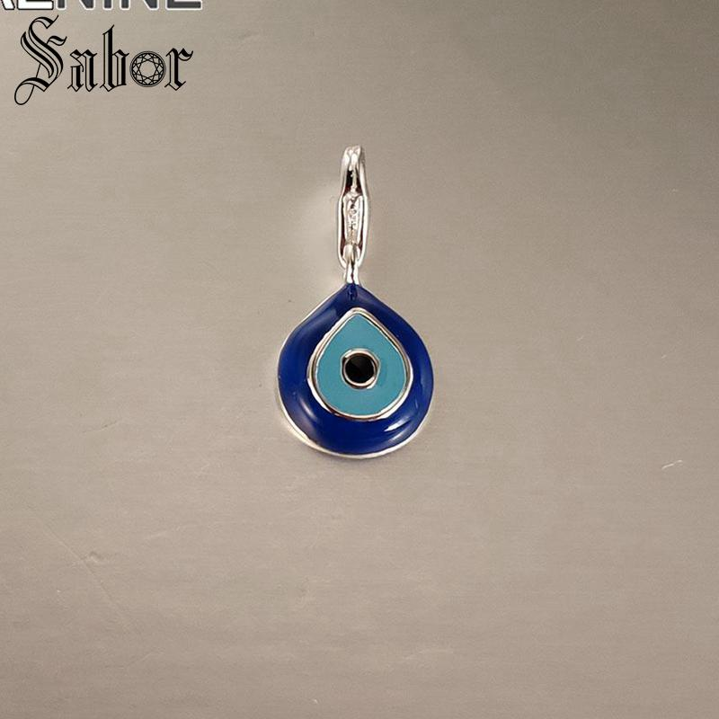 Bracelets Charms-Fit Turkish Jewelry Neckalces Evil-Eye Blue Women Classic for Girls