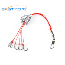 Easy Time 4pcs/lot #6 #8 #10 #12 Explosion Hook Fishing Hook Capture Off Ability Fish Tackle Imported Explosion Hanging Hooks