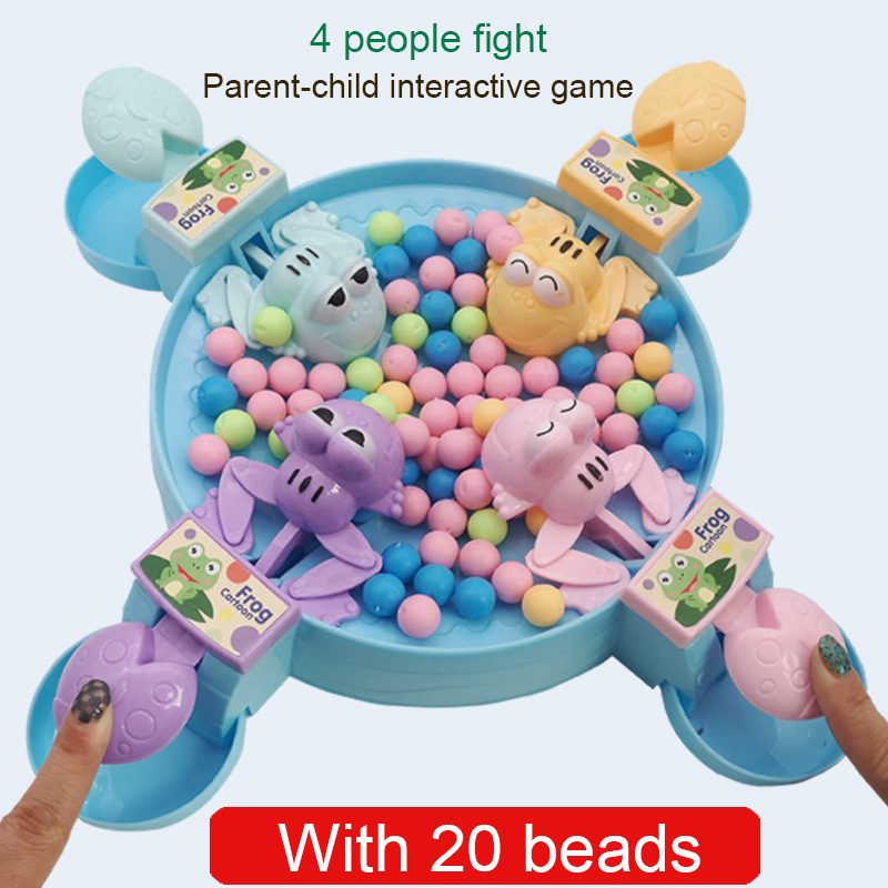 1 Set Hungry Frog Eating Beans Toy Games Competitive Birthday Gift For Children Kids M09