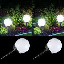 2 шт. Водонепроницаемый светодиодный светильник на солнечной энергии для садовой лужайки на открытом воздухе