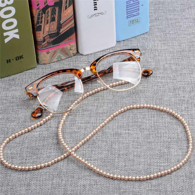 IMIXLOT Newest Women Handmade Elegant Imitation Pearl Eyewears Chains Beaded Eyeglass Lanyards Cord Holder Glasses Rope