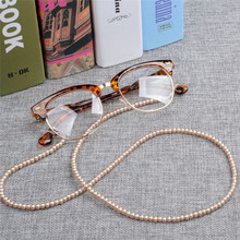 IMIXLOT Newest Women Handmade Elegant Imitation Pearl Eyewears Chains Beaded Eye