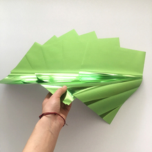 Myfoils A4 50sheets/bag  green color foil over paper hot stamping transfer by minc laser printer /label/business cards