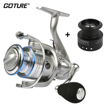 Goture Silver Spinning Reel Fishing Reel Coil Wheel GT3000V 5.2:1 10+1BB With Spare Plastic Spool Fishing Tackle