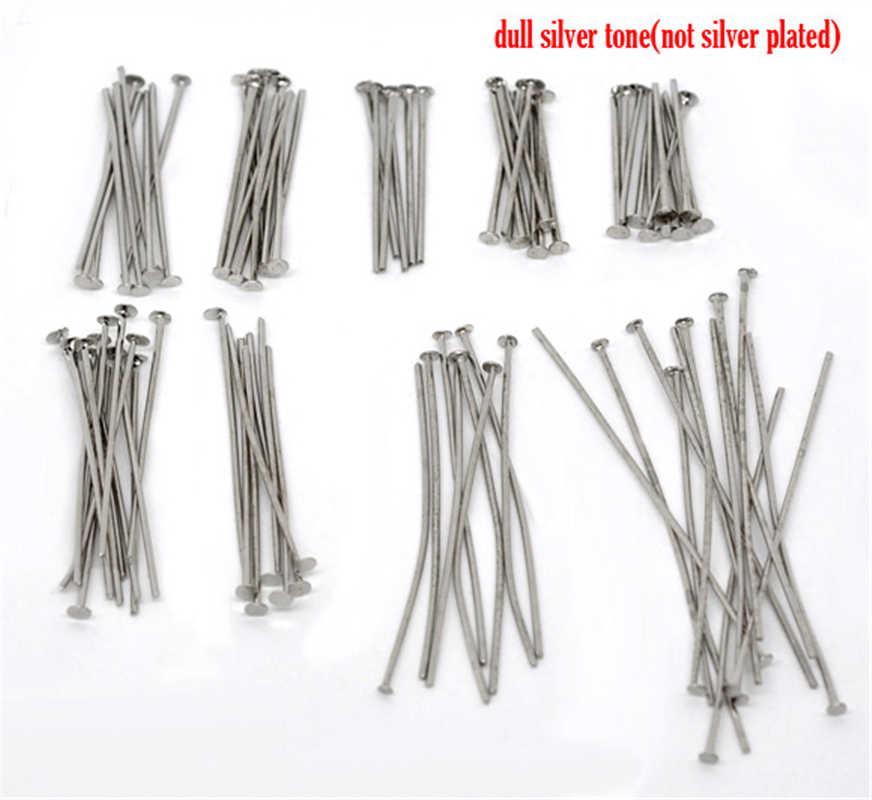 DoreenBeads 900 piezas mixtas de tono de plata alfileres de cabeza las conclusiones de 0,7mm (calibre 21) (B04117) yiwu