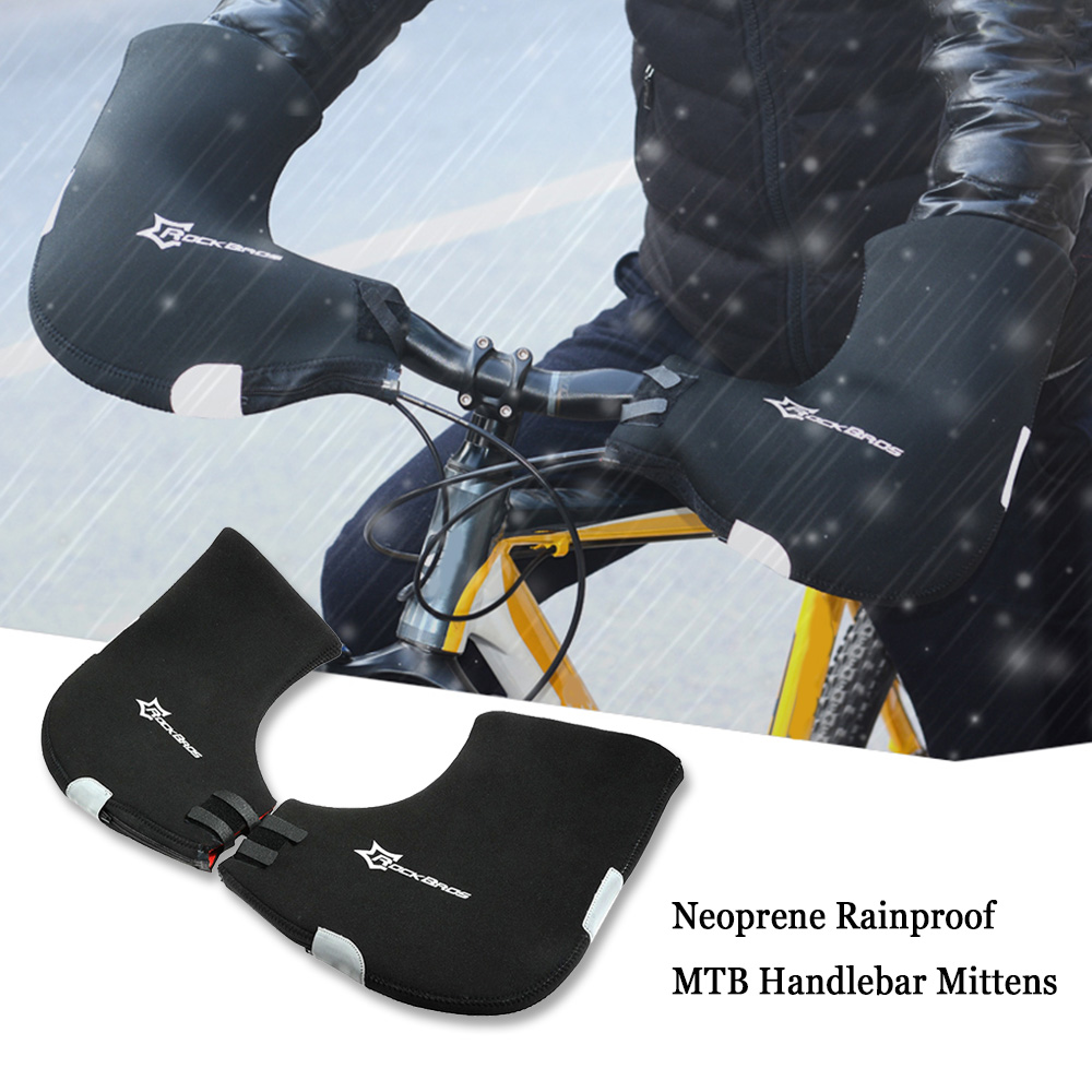 Men's Cycling Gloves For Bicycles Rainproof MTB Handlebar Bar End Mittens Mountain Bike Gloves Hands Warmer Hand Covers