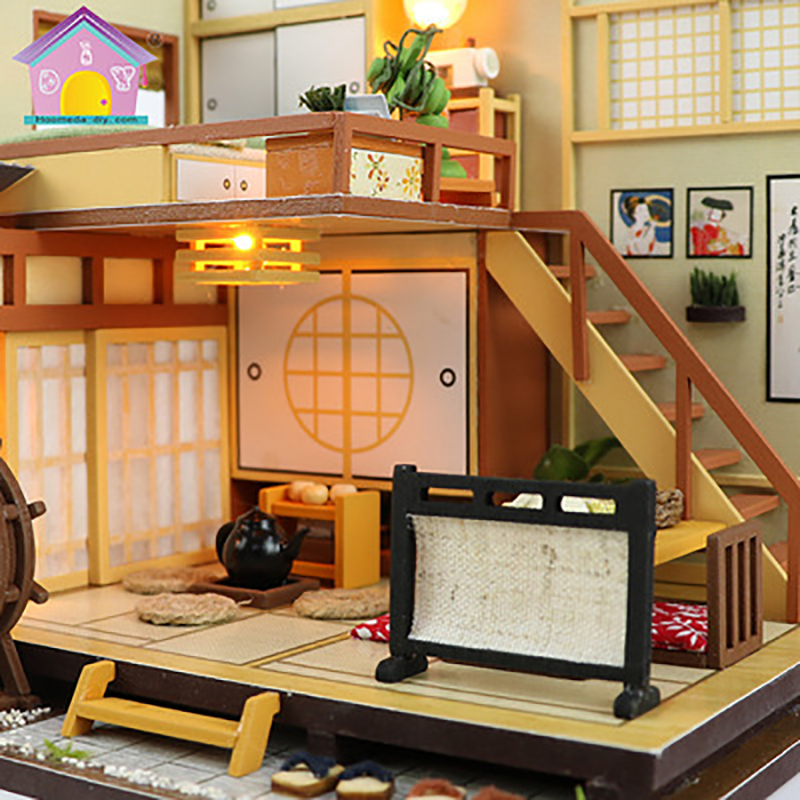 Diy Dollhouses Cottage Creative Model Building Doll House Assembled