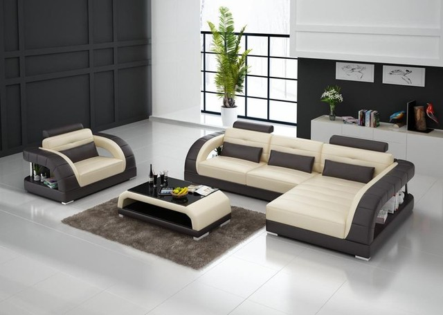 Beanbag Sofás Para Sala 2017 Promoción Cuero Auténtico Conjunto Moderno Sofá Seccional Sillón Chaise Nuevo Diseño