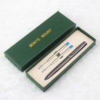 Школьные брендовая Изысканная шариковая ручка D2 черные ручки черный клип роллер Роскошная металлическая ручка для офиса письменные принад...