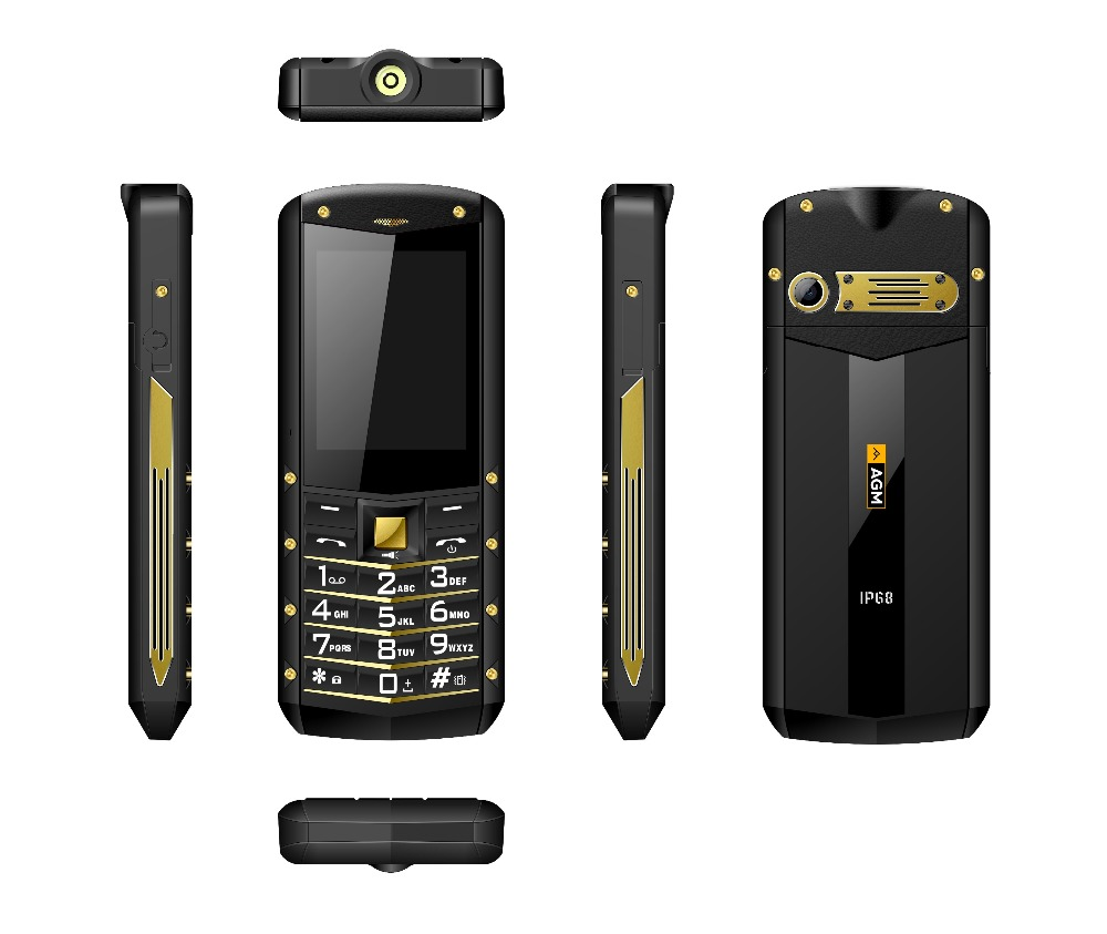 """Image 5 - (Support RU Language)AGM M2 2.4"""" Rugged Phone Dual SIM Rear 0.3MP Outdoor Phone IP68 Waterproof Shockproof Flashlight 1970mAh-in Cellphones from Cellphones & Telecommunications"""