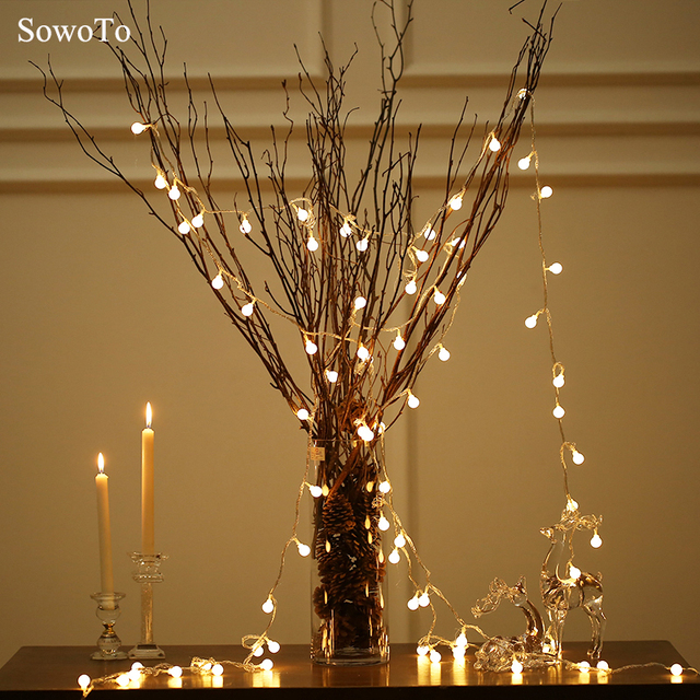 Round Star String Light Fairy Lights For Wedding Decor Home Outdoor Christmas Tree Decorations New Year Indoor