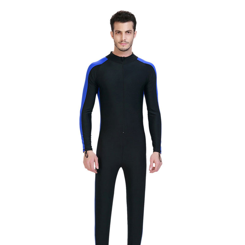 .Siamese jellyfish garment Snorkeling clothing sun protection clothing Long-sleeved Wetsuit Men anti-UV Swimwear Y026