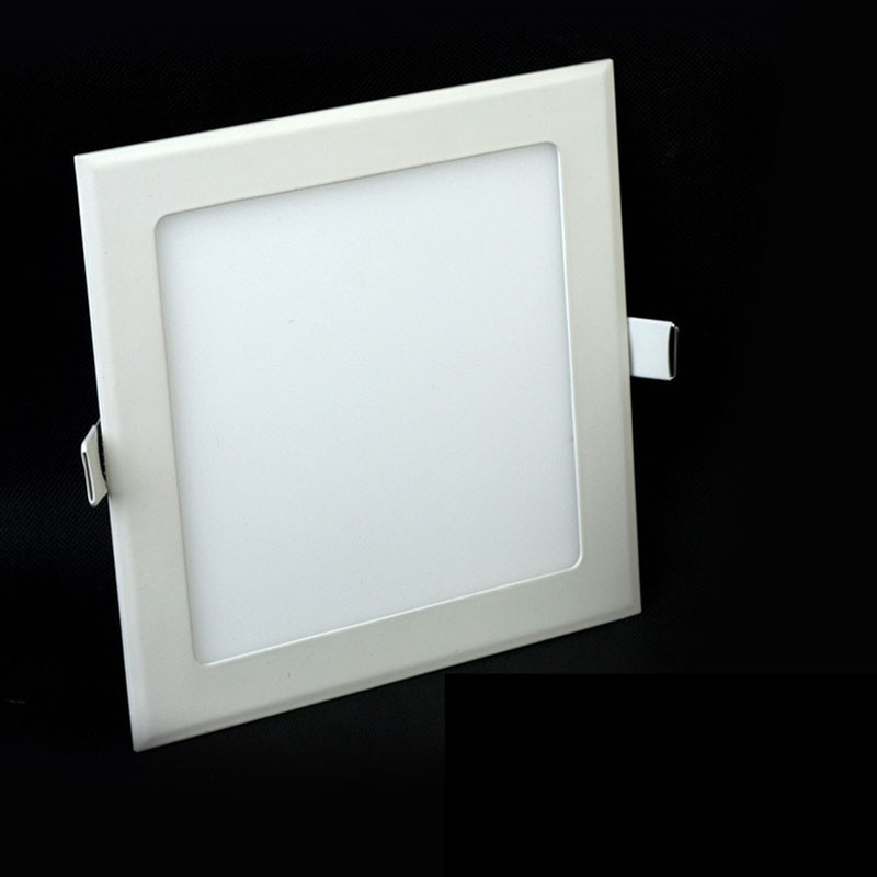 Jammas 5PCS LED Panel Light Round Square Recessed Lamp AC85V-260V 6W 12W 18W 24W 30W Bulb Bedroom Kitchen Indoor LED Spot Light Emitting Color: Round White, Wattage: 12W