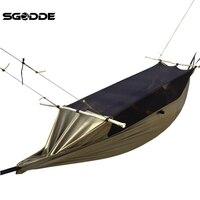 SGODDE 300D Polyester Mesh Maximum Load Travel Jungle Camping Outdoor Hammock Hanging Nylon 260x90cm