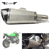 Universal 36 51mm Motorcycle Stainless steel Scooter Exhaust Pipe Muffler Escape For YAMAHA Vmax Virago 535 V Star 650 1100 1300