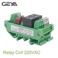 GEYA Din Rail Mounted 2 Channel Relay Module DC 24V 12V 230VAC Intermediate Power Relay Control Module idc 50 din rail mounted interface module
