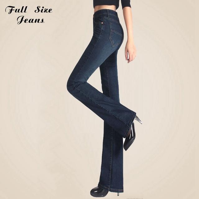Primavera outono slim fit mid cintura flare jeans stretch plus size Skinny Jean Calças Boca de Sino Calças Jeans Xs Xxxl 4Xl 5Xl 6Xl