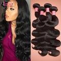 7А Перуанский Девы Волос Объемной Волны 4 Bundle Перуанский Тела волна Связки Rosa Продукты Волосы Перуанский Девы Волос Человеческих Волос пучки
