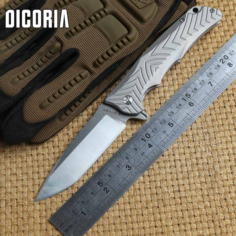 DICORIA Y-star TC4 Titanium Handle VG-10 blade Folding Knife camping hunting outdoor gear Tactical survival knives EDC tools high quality army survival knife high hardness wilderness knives essential self defense camping knife hunting outdoor tools edc