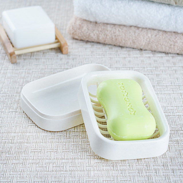 Japan Style Double Layer Soap Box Plastic Soap Dish Holder Storage