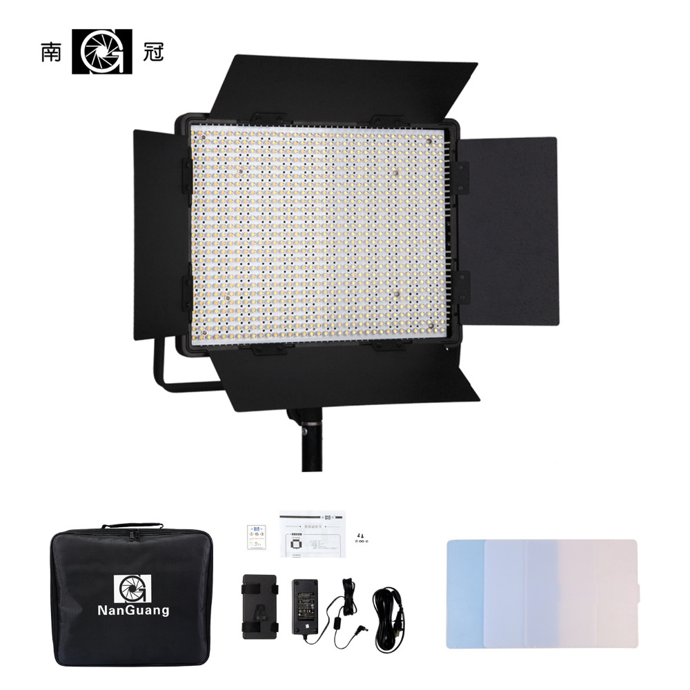 Nanguang CN-900SA LEDS 6850 LM Bi Color 5600K LED Video Studio Light Panel for Camera Video with V Lock Battery Mount NiteCore