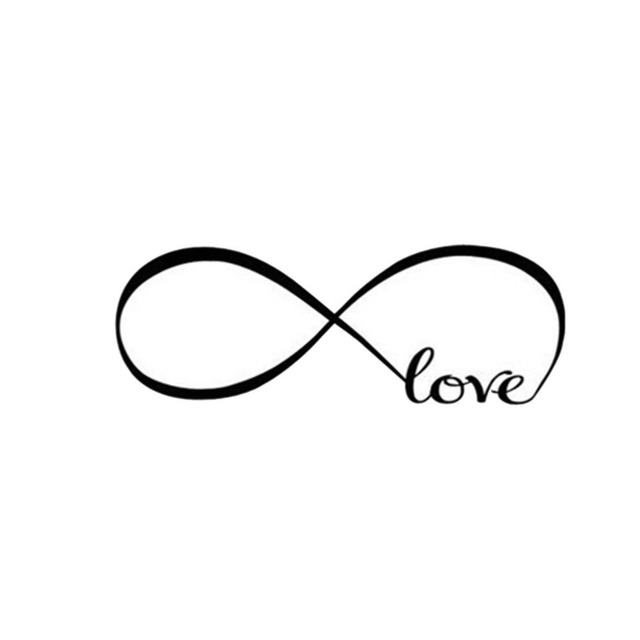 1pc Bedroom Wall Stickers Decor Infinity Symbol Word Love Vinyl Art
